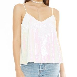 4SI3NNA Vicky Sequin Embellished Camisole Small